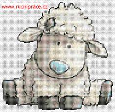 Lamb, free cross stitch patterns and charts - www.free-cross-stitch.rucniprace.cz