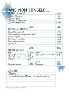 Astuce anti-gaspi : listez le contenu de votre congélateur !