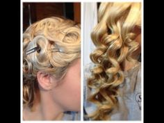 15 minute Christmas Hair. How to create amazing curls by using bobby pins, water, and a hair net! (NO HEAT)