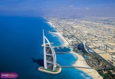 The Burj Al Arab in Dubai is home to the world's highest tennis court. The Burj Al Arab also happens to be the highest and only 7 star hotel in the wor Burj Al Arab, Vacation Destinations, Dream Vacations, Vacation Spots, Dubai Vacation, Holiday Destinations, Foto Dubai, Jumeirah Beach Hotel Dubai, Wayfarer
