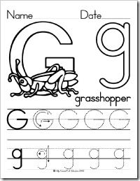 Letter Mfor Kids To Color Color Trace Letter G As The Kids