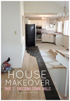 SPRAY PAINT Our 1970s House Makeover Part Two: Knocking Down Walls - LiveLoveDIY