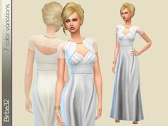 Pompei Dress by Birba32 at TSR via Sims 4 Updates