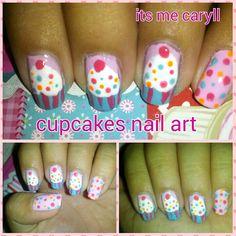Cupcakes nail art | its me caryll Cupcake Nail Art, Olongapo, Cupcakes, City, Nails, Finger Nails, Cupcake Cakes, Ongles, Cities