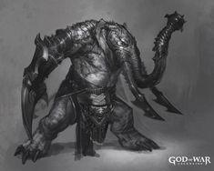 Elephantaur Design from God of War: Ascension