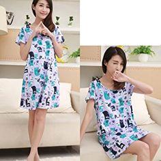 ENJOYNIGHT Women's Sleepwear Cotton Sleep Tee Short Sleeves Print Sleepshirt Price: $3.99 - $14.79   & Free Return on some sizes and colors