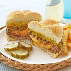 Juicy Lucy burger, oozing with cheese!