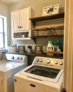 40 Gorgeous Small Laundry Room Design Ideas - Laundry areas, in general, easily end up a place where items are stored, stashed, and procrastinated -- to do later. With small laundry rooms this bec. Room Organization, Home, Laundry Room Remodel, Room Storage Diy, House, Room Makeover, Room Design, Rustic Laundry Rooms