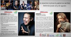 MOTRIL.La novena edición de los Patios Flamencos de Motril concluye este fin de semana con las actuaciones del cantaor José Anillo y del innovador pianista Dorantes,