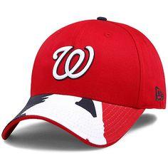 buy online 2103f 5a6a4 Men s Washington Nationals New Era Red Navy Swing Batter 39THIRTY Flex Hat,   25.99 Washington