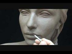 Scolpire una testa di donna (dimostrazione pratica) - arteidetv - YouTube