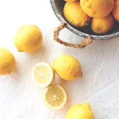 Lemons on White ~ Mary Wald's Place -she who eats: lemon yellow, from winter to spring Lemon Yellow, Lemon Lime, Lemon On Face, Fruits And Veggies, Pineapple, Food And Drink, Spring, Winter, How To Make