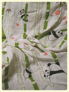 panda gauze Bath towel