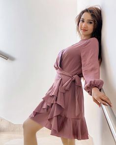 Indian Girls Images, Indian Teen, Alia Bhatt Cute, Teen Actresses, Stylish Girl Pic, India Beauty, Girl Model, Wrap Dress, Cold Shoulder Dress