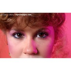 Linda Blair wearing glittery eyeshadow, circa 1980. © Gary Lewis / #mptvimages                                                                                                                                                                                 More