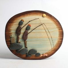 Taş yapıştırma,balık tutan adamlar.