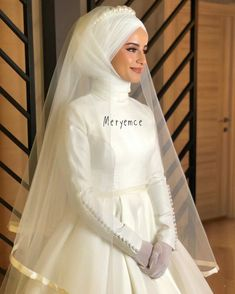 Biraz da eğlenmek lazım💕👍😉 Garments from girls's beloved items of attire could possibly be the … Muslim Wedding Dresses, Wedding Hijab, White Wedding Dresses, Bridesmaid Dresses, Wedding Bridesmaids, Dress Wedding, Muslim Brides, Muslim Couples, Muslim Fashion