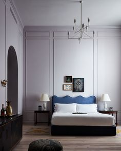 Obsessed with the bohemian-maximalist interiors of the Maison de la Luz hotel in New Orleans? Here's how to bring the look home. New Orleans Hotels, York Hotels, Charles & Ray Eames, Cocktail Bar Design, Hotel Restaurant, Blue Bedding, Blue Headboard, Queen Bedding, Beach Houses