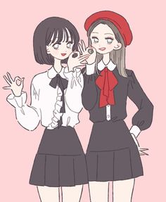 No automatic alt text available. Kawaii Anime Girl, Anime Art Girl, Anime Korea, Character Art, Character Design, Twice Fanart, Cute Art Styles, Korean Art, Anime Outfits