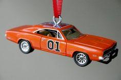 1969 Dodge Charger * Orange General Lee 69 * Christmas Tree Ornament