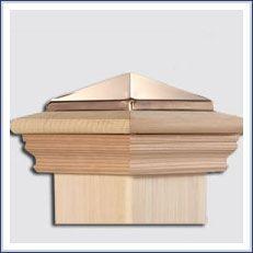 Redwood Decorative Copper Top Post Cap