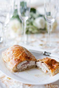 Menú de Navidad (II): hojaldre de pollo relleno - Ebom | Ebom