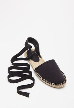 Lace-Up Espadrille Flats - Womens shoes and boots   shop online   Forever 21 - 2000053888 - Forever 21 EU