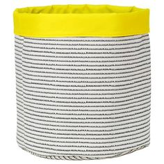 Reversible Canvas Bin Round Squiggle - Pillowfort™
