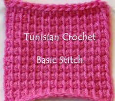 Tunisian Crochet Patterns Made Easy For Beginners- Basic Tunisian Crochet Stitch