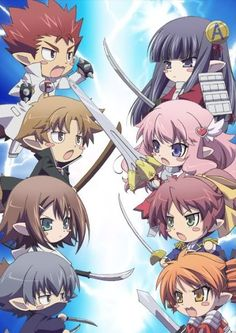 Anime 30 Day Challenge: Day 1: First Anime You Watched: Baka And Test, I Really Need To Make A Board For This Show...