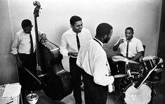 Ornette Coleman Quartet 1962 NYC   Jimmy Garrison, Bobby Bradford, Ornette, Charles Moffett