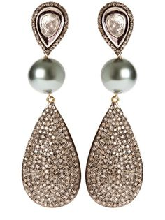 Gorgeous Tahitian Pearls With Pave Diamond Encrusted Charms <3<3<3