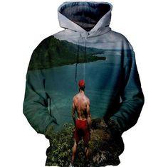 Vaporwave Hooded Summer Sweatshirt