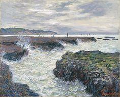 Claude Monet 1882 Rocks at Low Tide,