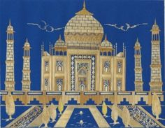 Handmade leaf art of TAJ MAHAL COMPLETELY HANDMADE WITH LEAVES OF RICE PLANT.  Unique gift by museumshop, $29.99