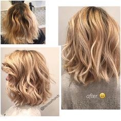 Khloe kardashian inspiration for color and cut ! blonde bombshell / mixed foil balayage technique / flawless blondes / pearly blonde / mid length short hair / lived in color @bscissorhands New York City and Westchester Astoria