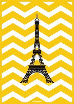 Poster Audrey Paris | Poster de Papel | Elo7