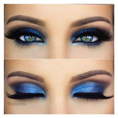 Royal Blue eyeshadow ❤ liked on Polyvore featuring beauty products, makeup, eye makeup and eyeshadow