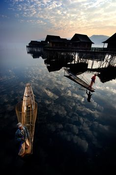 Morning sky fishermen, what an incredible picture!
