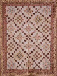 PATCHWORK QUILT c1830 Harriet Kirk Marion. Berkeley,  SC. Collection of MESDA