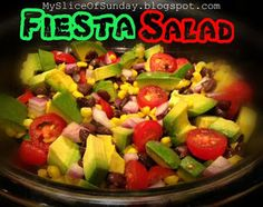Fiesta Salad ~ My Slice of Sunday
