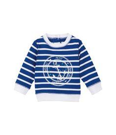 Baby-Kapuzensweater für Jungen, aus schwerem Jersey, mit Marinestreifen