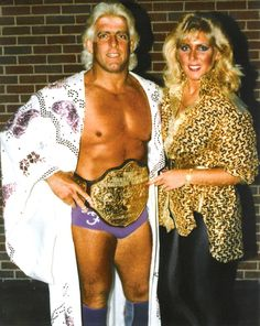 """Nature Boy"" Ric Flair: NWA World Heavyweight Champion with Baby Doll [1986] The REAL World Champion."