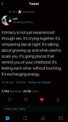 Mhmmmmm personally I believe sex has next to nothing do do w how intimate u are Real Talk Quotes, Self Love Quotes, Fact Quotes, Mood Quotes, Life Quotes, Tweet Quotes, Twitter Quotes, Relatable Tweets, Relationship Quotes