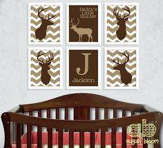 Chevron Deer Print Set  Deer Nursery  by AugustBloomDesigns, $58.95