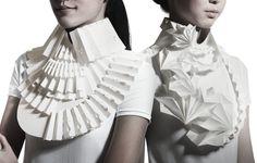 Paper Origami Jewellery - beautifully folded 3D geometric jewelry designs…