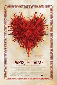 Paris, Je t'aime is a 2006 anthology film starring an ensemble cast of actors of various nationalities. The two-hour film consists of eighteen short films set in different arrondissements.