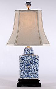 Blue & White - Rectangle Lamp