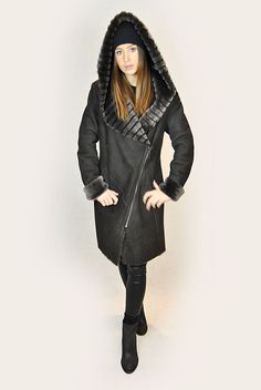 SHOP NOW! Sheepskin Coat, Hoods, Shop Now, Winter Jackets, Brown, Shopping, Collection, Fashion, Cowls