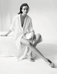 Andreea Diaconu - Giuseppe Zanottis Fall 2014 Karim Sadli www.karimsadli.com via giuseppezanottidesign.com  for #composition #motion